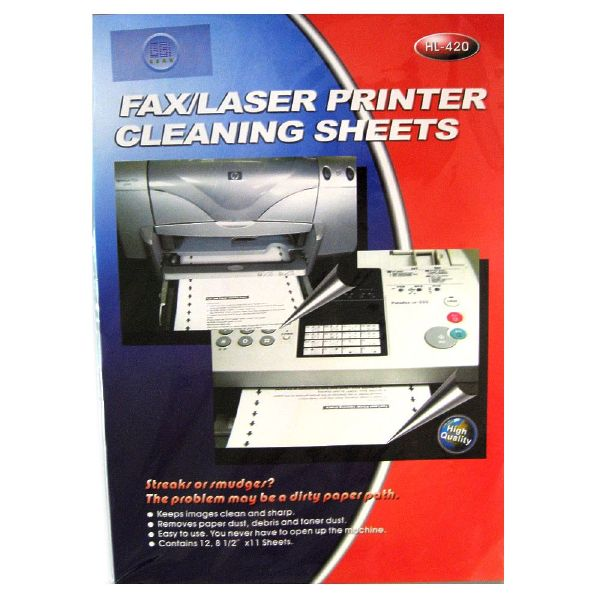 Laptop Hp E-hl-420: Fax/laser Printer Cleaning Sheets - 12 Sheets