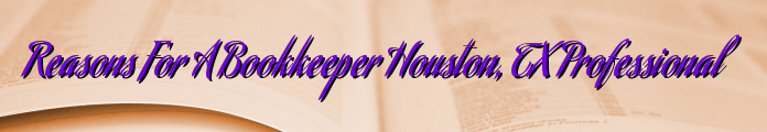 Reasons For A Bookkeeper Houston, TX Professional
