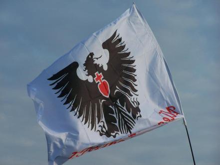 La bandiera al vento