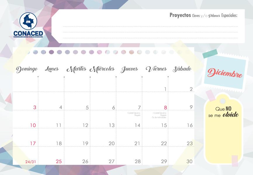 Cronograma \u2013 Conaced