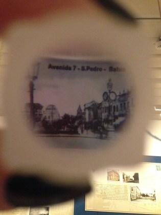 Foto em monóculo da área do relógio de São Pedro.