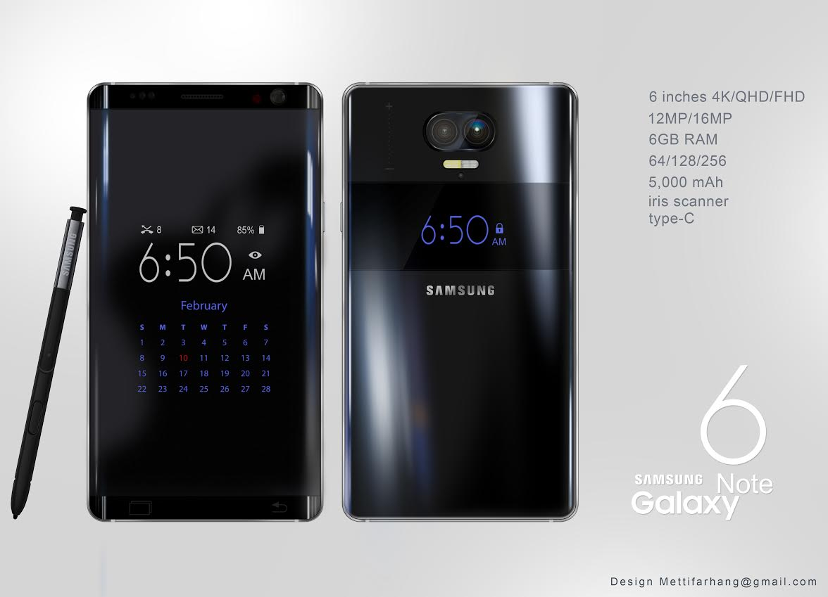 Note 6 Samsung Galaxy Note 6 | Concept Phones