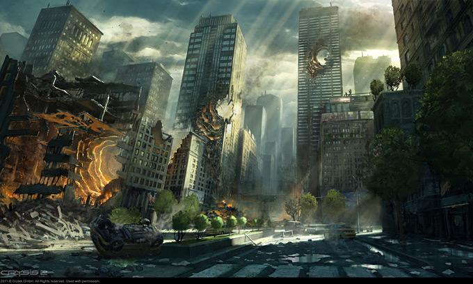 Best Future City 3d Wallpapers Crysis 2 Concept Art By Dennis Chan Concept Art World