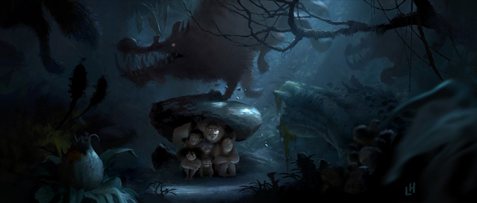 Sad Animation Wallpaper The Croods Visual Development Designs By Leighton Hickman