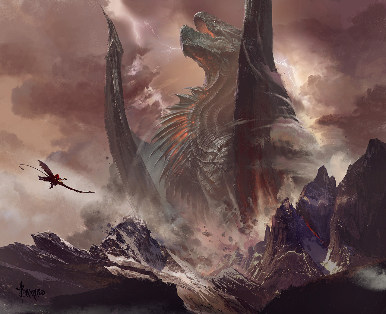 Fantasy World Art Dragon Bayard Wu Concept Art World