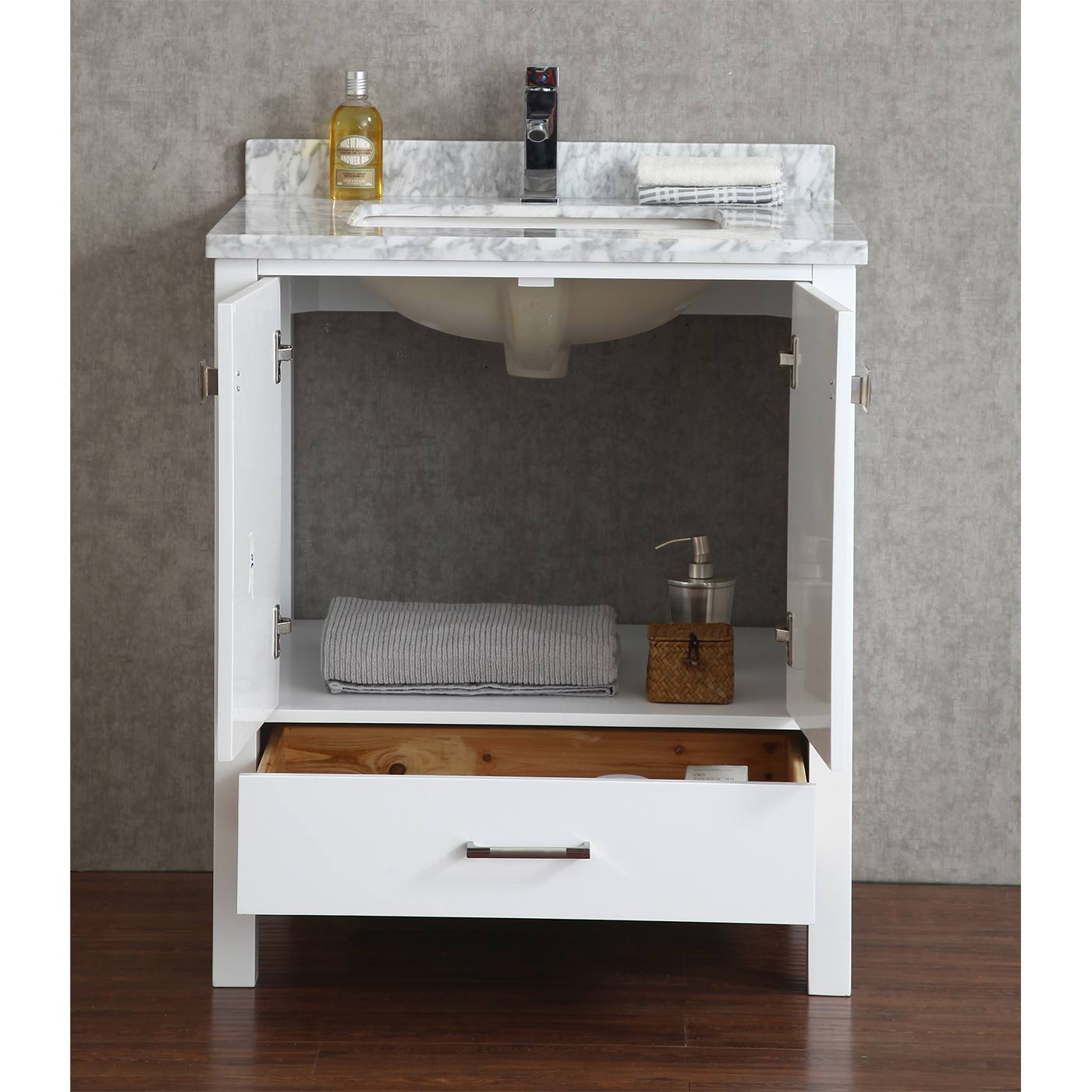 30 Floating Bathroom Vanity Buy Vincent 30 Inch Solid Wood Double Bathroom Vanity In