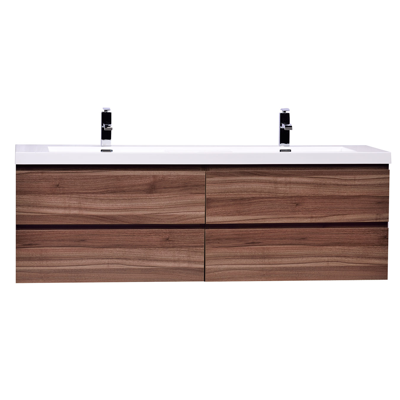 Wall Mount Double Vanity Angela 63