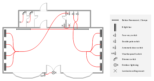 Lighting And Switch Layout | Reflected Ceiling Plan | Classroom