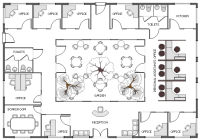 Office floor plan | Ground floor office plan | Cafe and ...