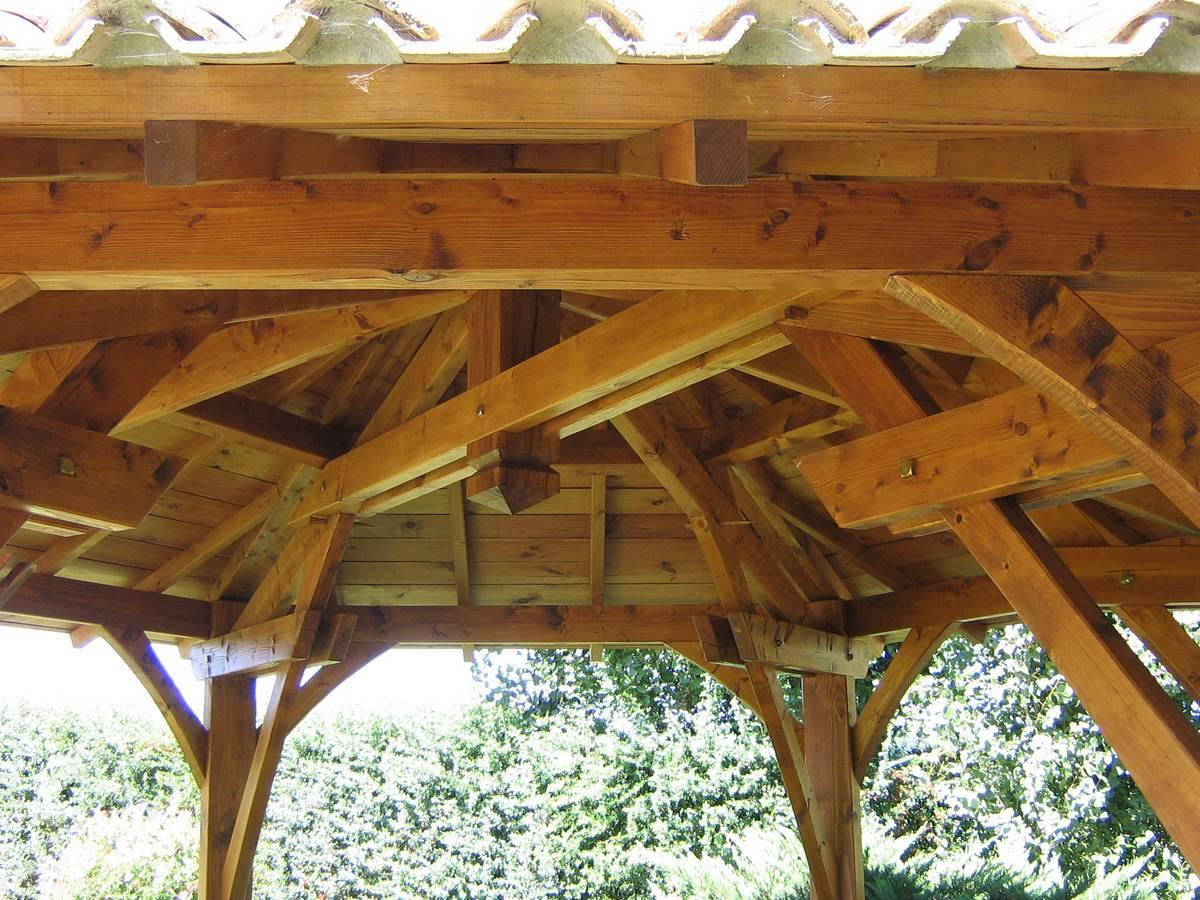 Kiosque En Bois Occasion | Pergola Dans Un Jardin