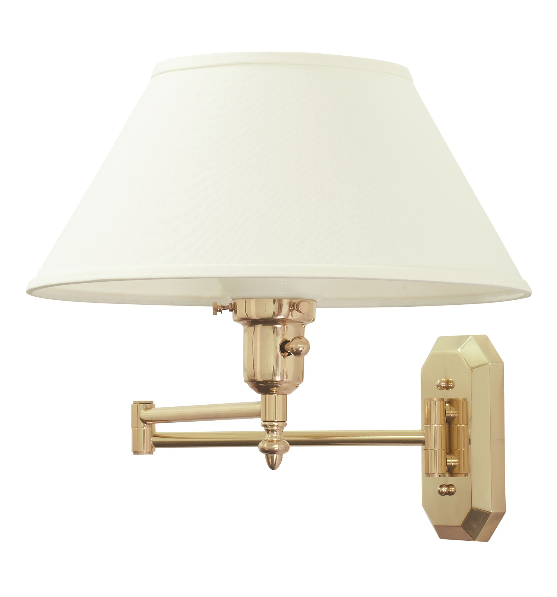 Arm Lamp House Of Troy Home Office Single Light Wall Swing Arm Lamp In A Polished Brass Finish