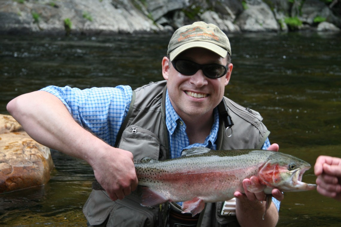 Keith with trout