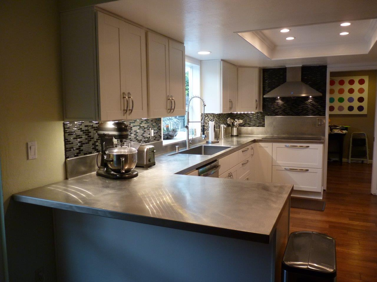 Stainless Countertop Custom 16 Ga Stainless Steel Countertop With Vibration Finish