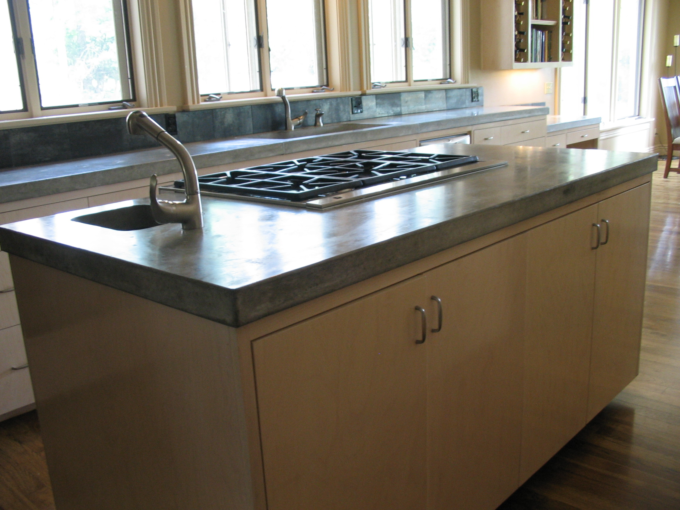Concrete Countertop Reinforcement Concrete Countertops For The Kitchen Concrete Creations Nwa