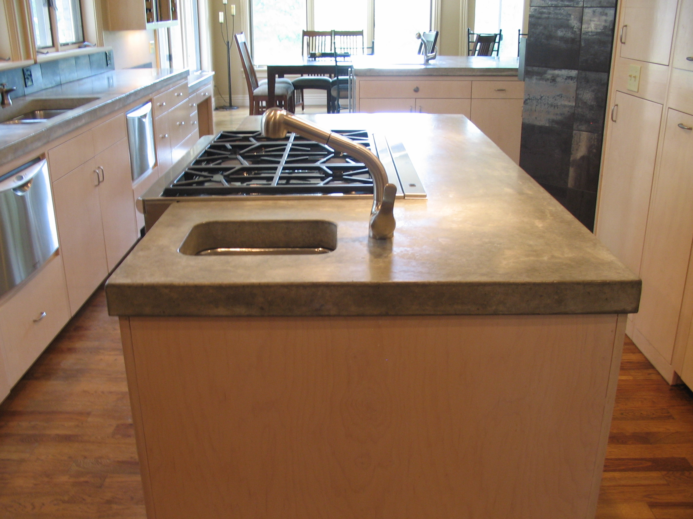 Concrete Countertop Reinforcement Custom Kitchen Island Concrete Countertop Concrete