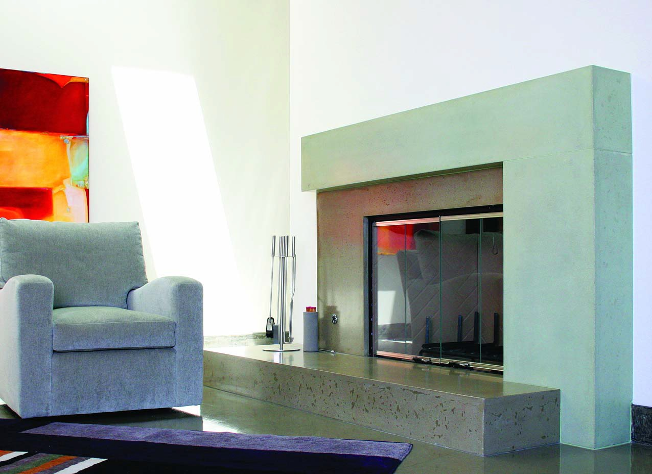 Elegant Fireplace Surrounds Concrete Takes Its Place At The Heart Of The Home Concrete Decor