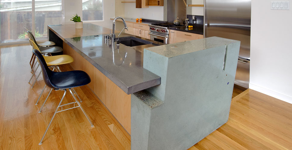 modern concrete countertop wall cheng concrete exchange small kitchen island design ideas kitchen small kitchen island design