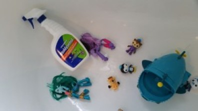 mold removal from bath toys