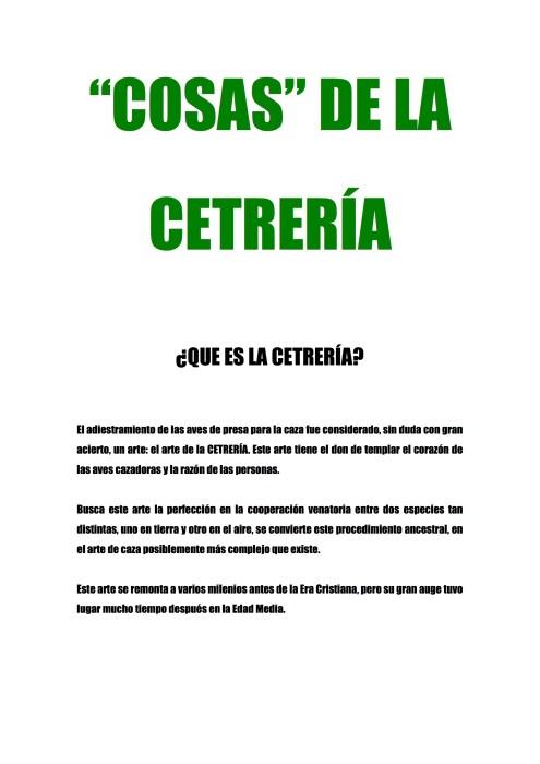 Guiomar Figueroa - Cosas de la Cetrería