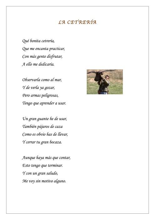 María Llorens - Literatura - LA CETRERÍA CATEGORIA DESCONOCIDA