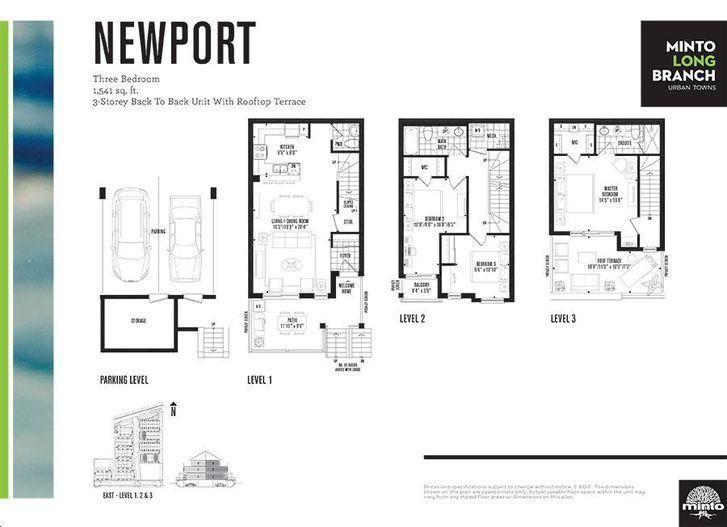 Minto Longbranch By Minto Newport Floorplan 3 Bed 25 Bath