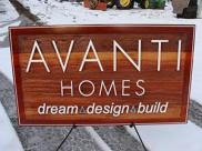 Edmonton area's premiere custom home builder specializing in uniquely designed custom homes,cedar sign by Condor signs