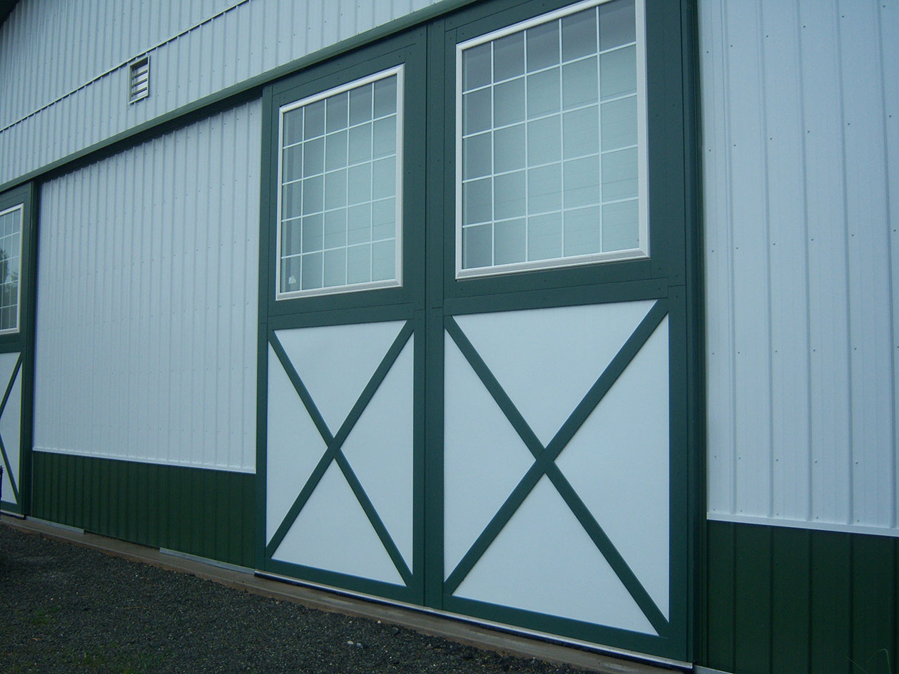 Barn Door Frame Post Frame Building Door Options - Conestoga Buildings