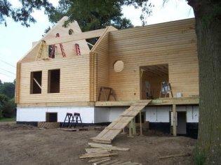 log cabin wall construction