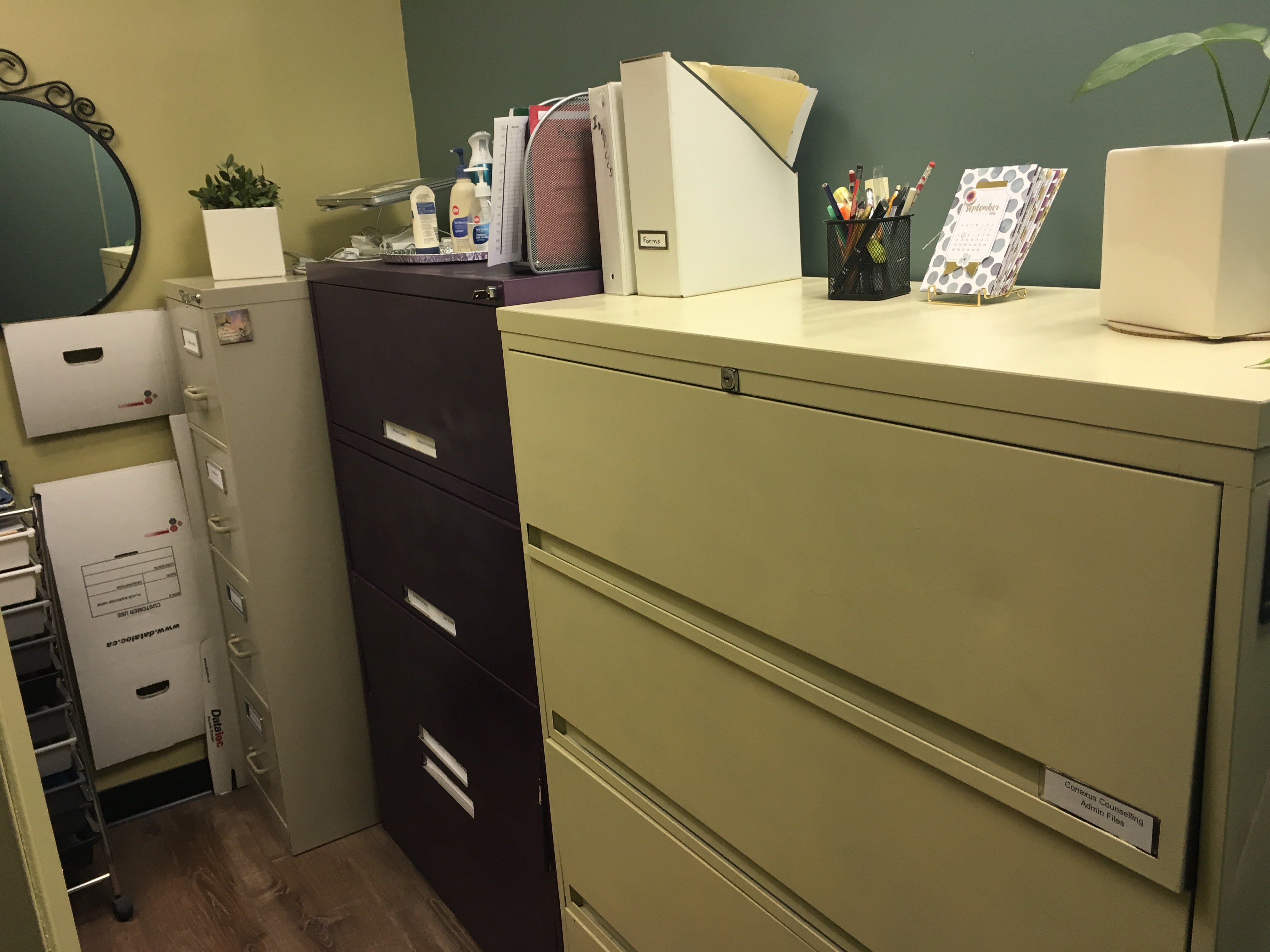 Storage Room Storage Room With Filing Cabinets Conexus Counselling Winnipeg Mb