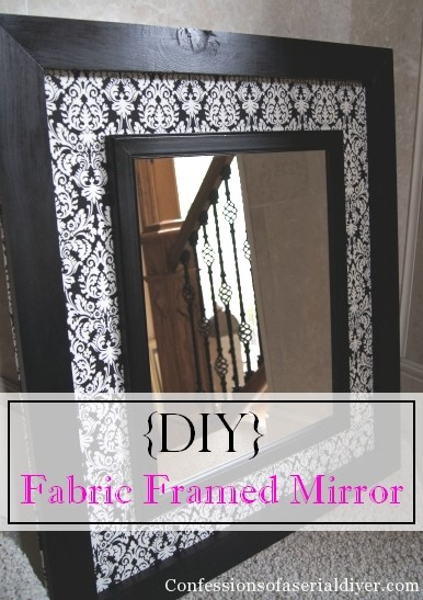 Decorative Mirror Kirklands Diy Fabric Framed Mirror Confessions Of A Serial Do It