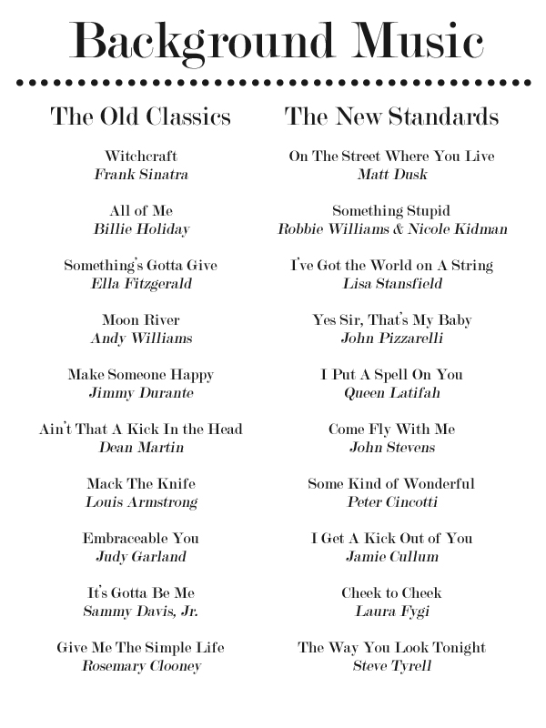 20 Jazz Standards for Your Dinner Party Playlist Confetti