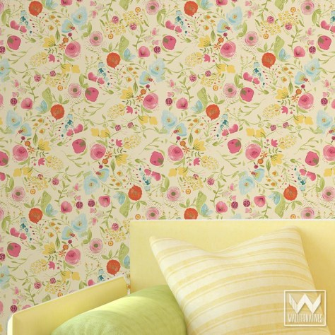 floral-pattern-WallAppeal-wallpaper-watercolor-yellow-zoom