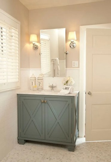 Sage Bathroom Cabinets