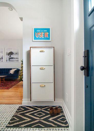 Ikea Hemnes Single Unit via Yellow Brick Home