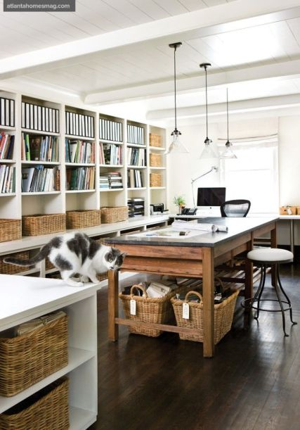 Office Space via Atl Homes Mag