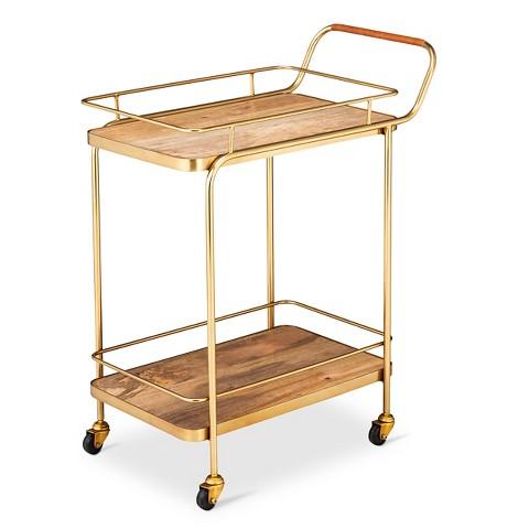 Wood and Metal Barcart--Target