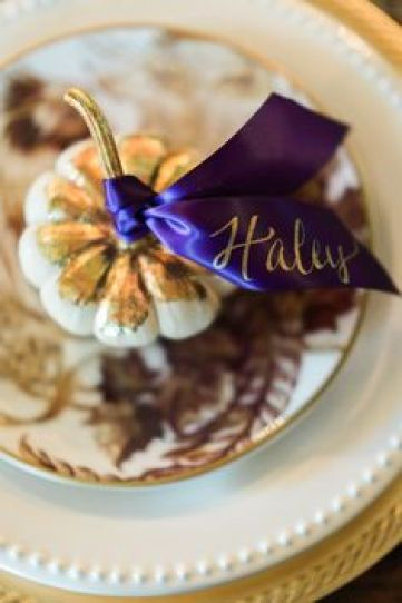 Fall Place Setting via Pottery Barn