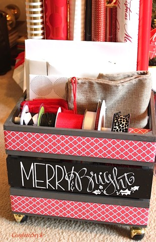 Merry & Bright Gift Wrap Crate By ConfettiStyle