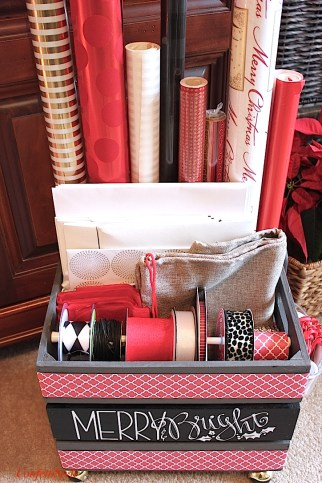 Merry & Bright Gift Wrap Crate by ConfettiStyle-1