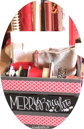 Merry & Bright Holiday Gift Wrap Crate