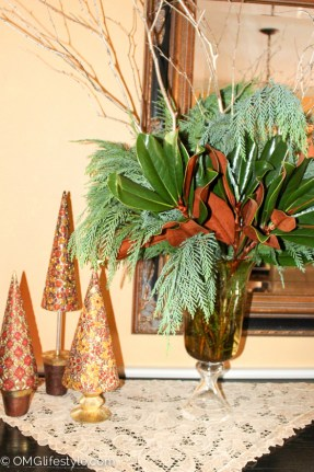 Vase full of greens--OMGLifestyle