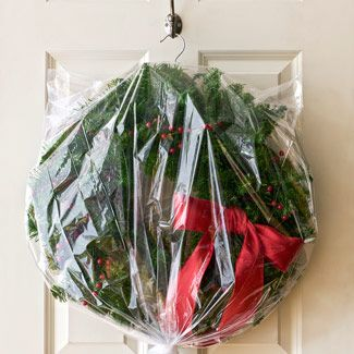 Wreath in bag