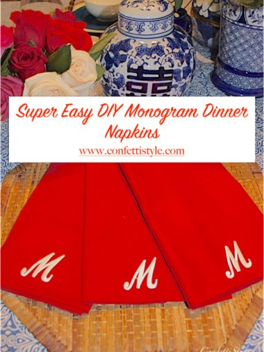 DIY Monogram Dinner Napkins.001
