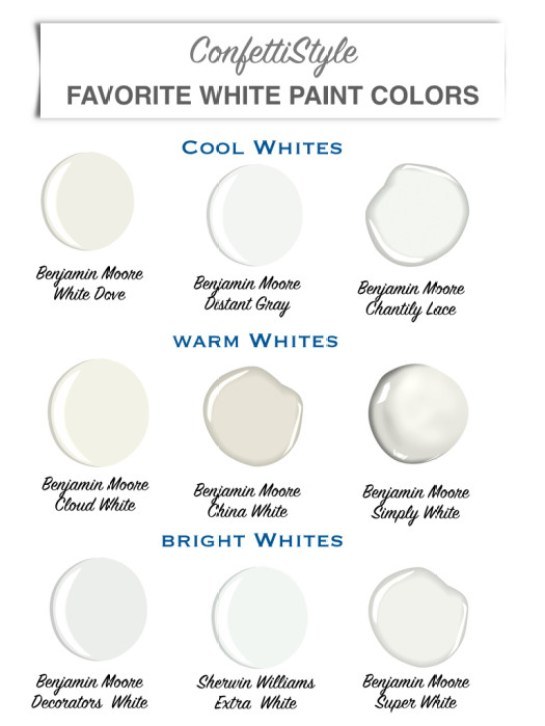 Design Guide My Favorite White Paint Colors Confettistyle