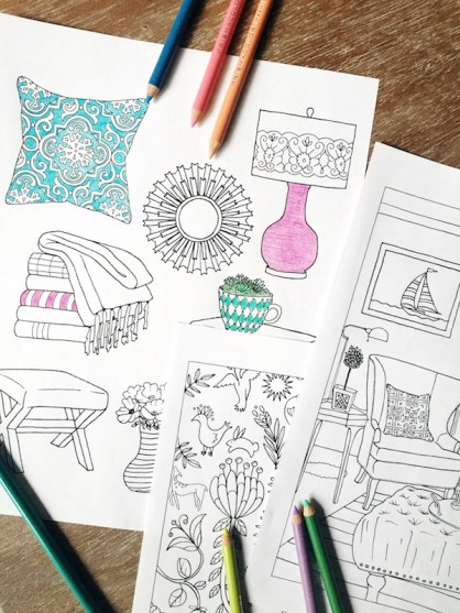 The Inspried Room Coloring Book