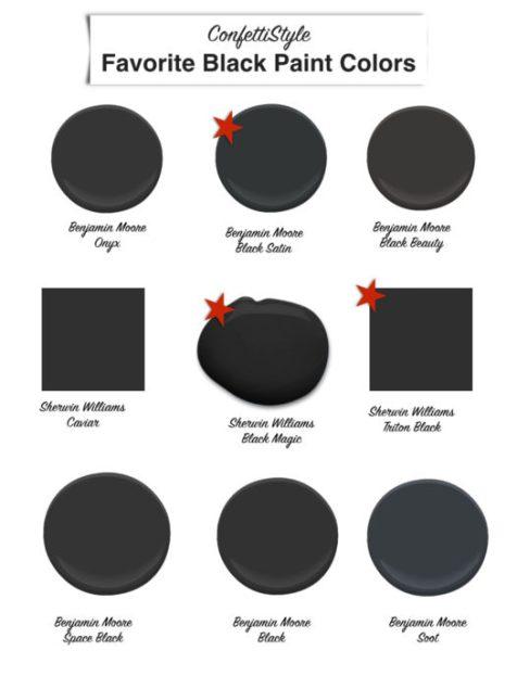 Favorite Black Paint Colors