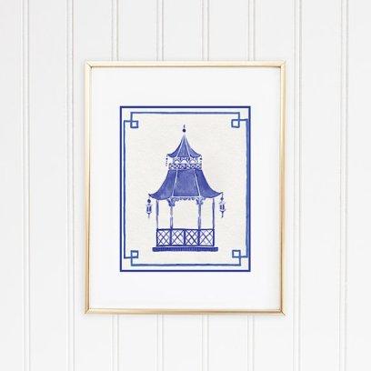 Pagoda Print