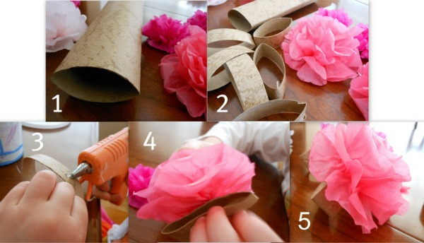 How To Make Tissue Paper Flowers Napkin Rings For A Tea Party