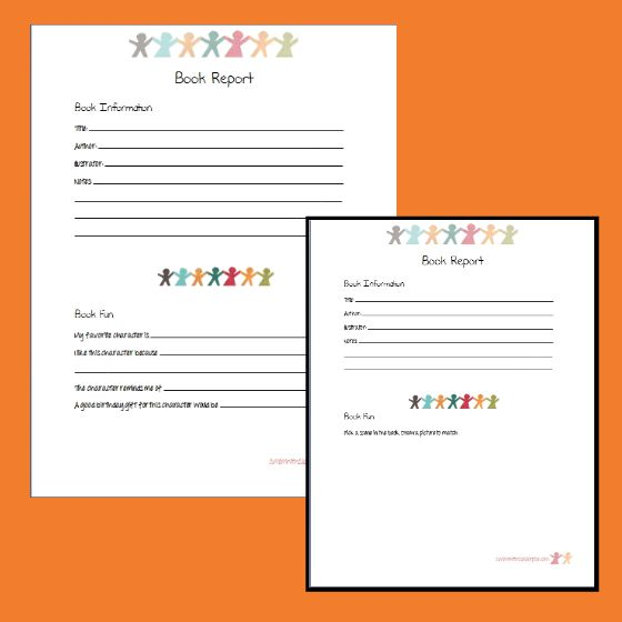 6 Creative Printable Book Report Template - book report template free