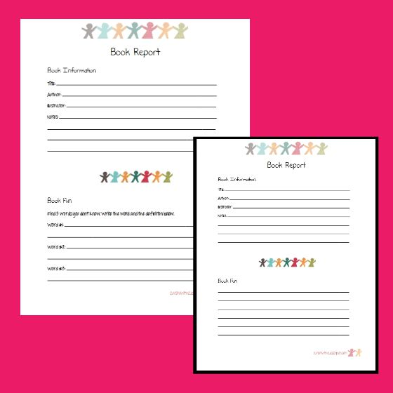 6 Creative Printable Book Report Template - printable book report forms
